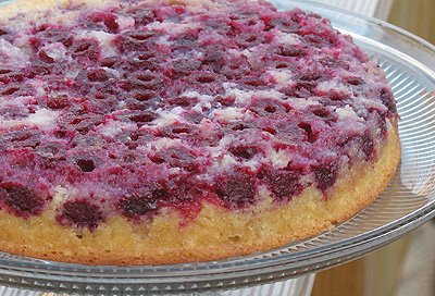 Raspberry Upside Down Cake from Amanda's Cookin'