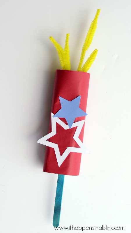 Faux Paper Sparklers from It Happens in a Blink