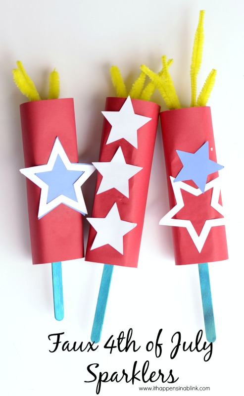 Faux 4th of July paper Sparklers from It Happens in a Blink