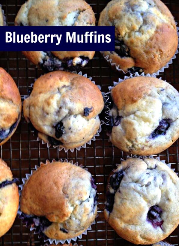 Yogurt Blueberry Muffins from Pink Cake Plate