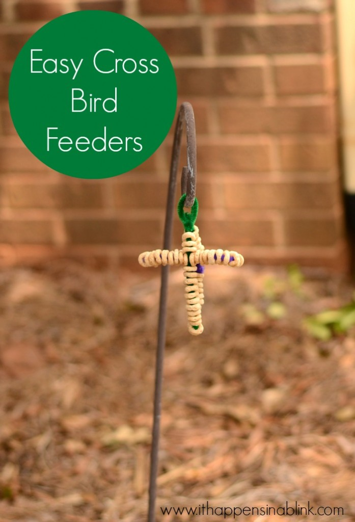 Easy Cross Bird Feeder from ItHappensinaBlink.com