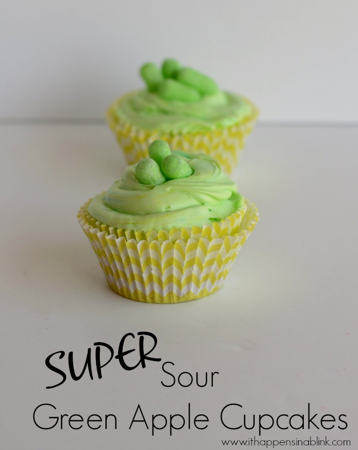 Super Sour Green Apple Cupcakes #ZoursFace #shop #CollectiveBias