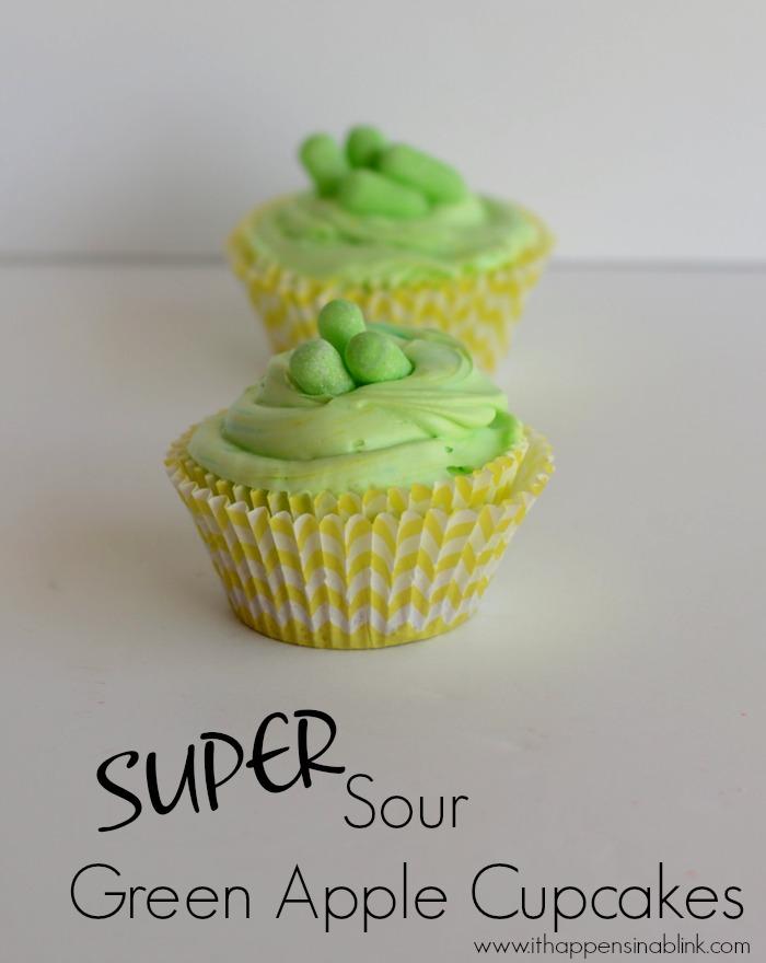Super Sour Green Apple Cupcakes #ZoursFace #shop #CollectiveBias