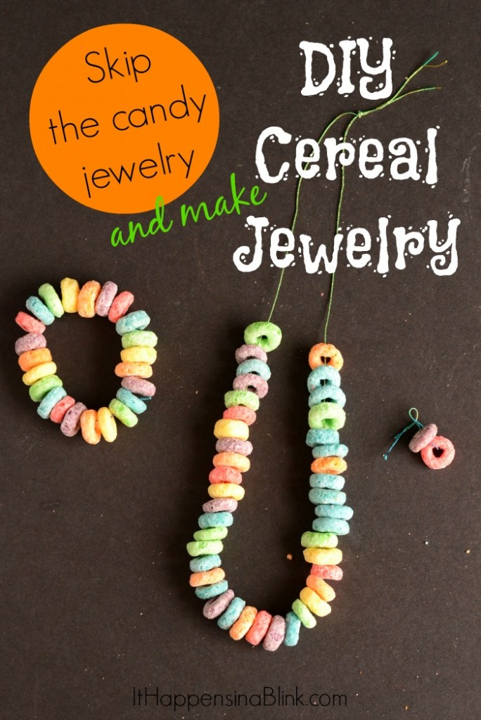 DIY Cereal Jewelry #GoodNightSnack #shop #cbias