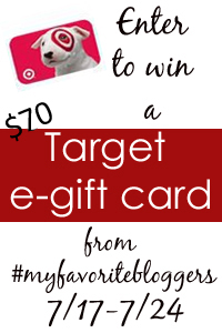 Enter to win a $70 Target e-gift card!
