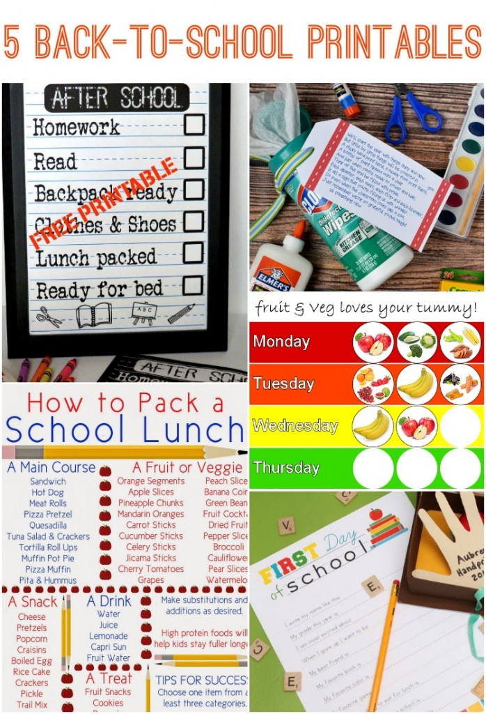 5 back-to-school printables