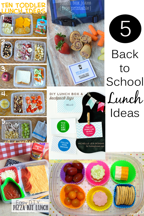 5 Back to School Lunch Ideas