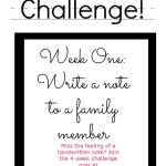 Let's Write a Note Challenge: Week One