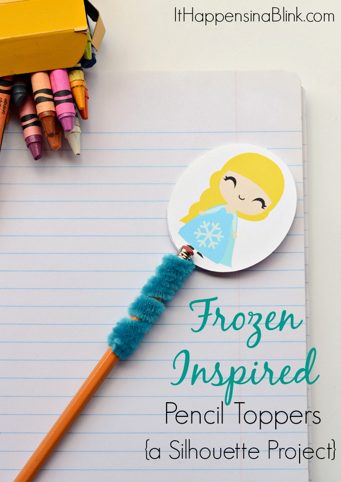 Frozen Inspired Pencil Toppers: A Silhouette Project