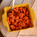 Steamed Honey Glazed Carrot Medallions