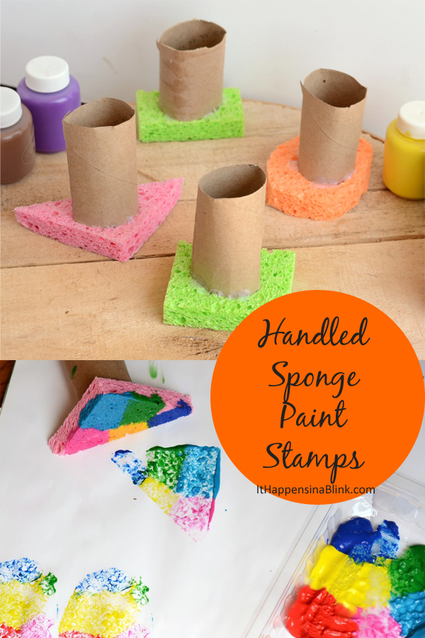Handled Sponge Paint Stamps #sponsored