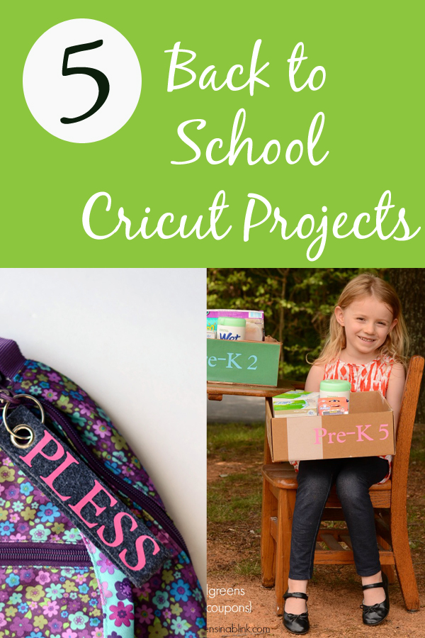 5 Back to School Cricut Projects | ItHappensinaBlink.com