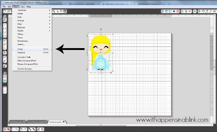 How to Fill in Color and Layer Shapes in Silhouette Studio from ItHappensinaBlink.com