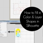 How to Fill in Color and Arrange Shape Layers in Silhouette Studio