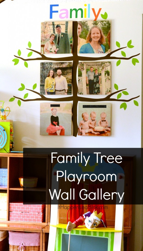 Family Tree Playroom Gallery Wall #ShutterflyDecor #sponsored