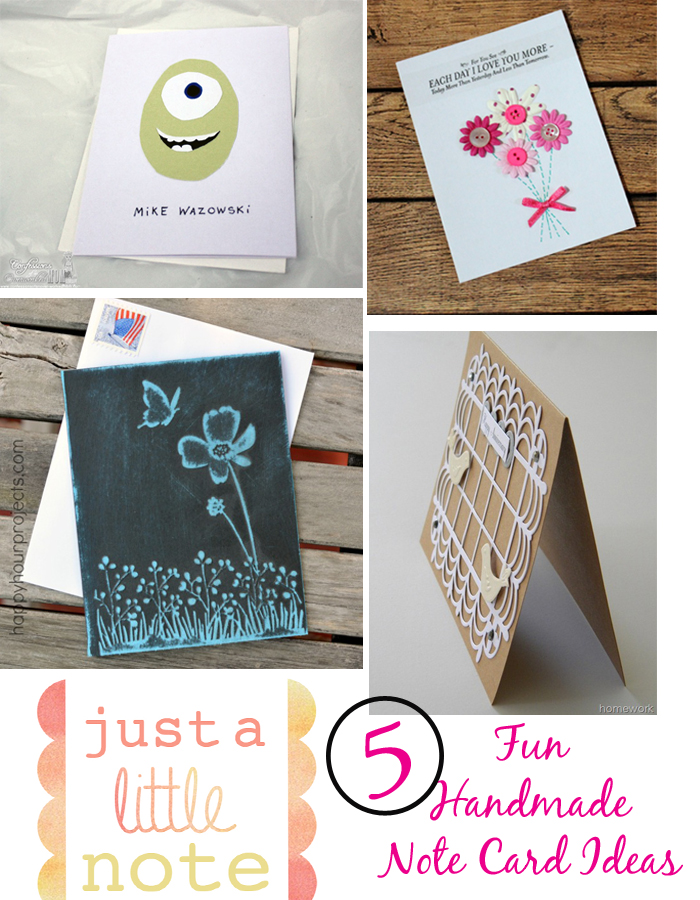 5 Fun Handmade Note Cards  |   ItHappensinaBlink.com