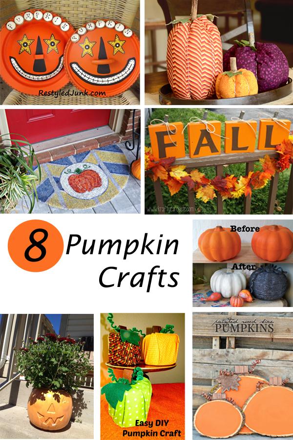 8 Pumpkin Crafts   |   ItHappensinaBlin.com