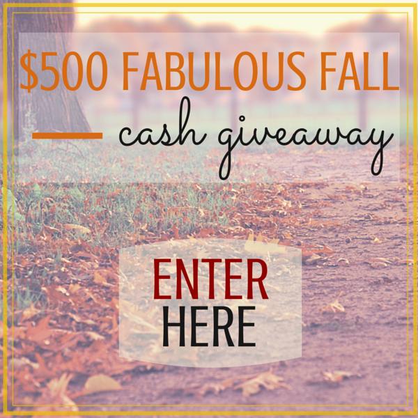 Fabulous Fall Cash Giveaway