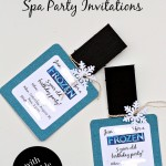 FROZEN Spa Party Invitations