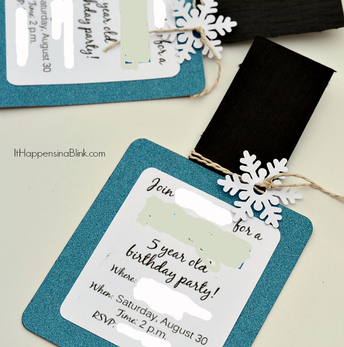 Frozen Spa Party Invitations with free printable