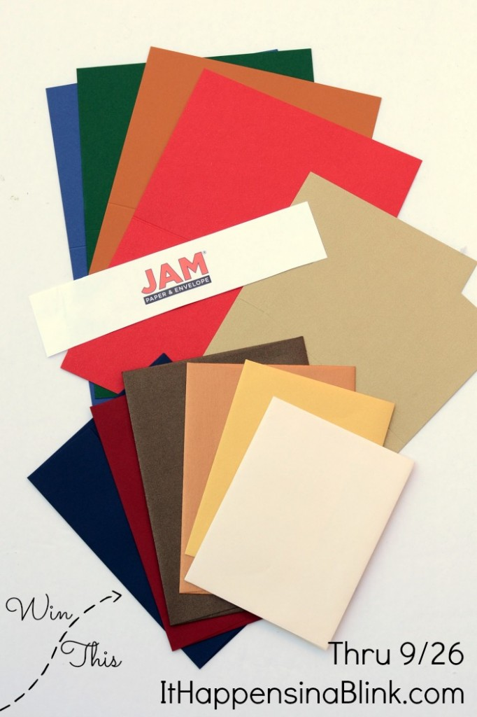 JAM Paper and Envelope Giveaway thru 9/26/14  |  itHappensinaBlink.com