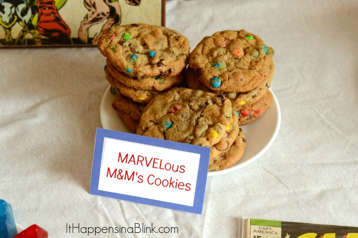 MARVELous M&M's Cookies  |  ItHappensinaBlink.com  |  #HeroesEatMMs  #shop #cbias