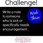 Let's Write a Note Challenge: Week Three