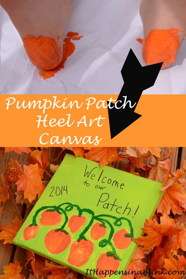 Pumpkin Patch Heel Art Canvas   |   ItHappensinaBlink.com