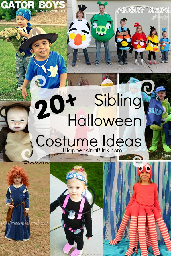 20 Sibling Halloween Costume Ideas  sc 1 st  It Happens in a Blink & 20 Sibling Halloween Costumes