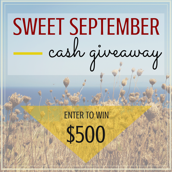 Sweet September Cash Giveaway