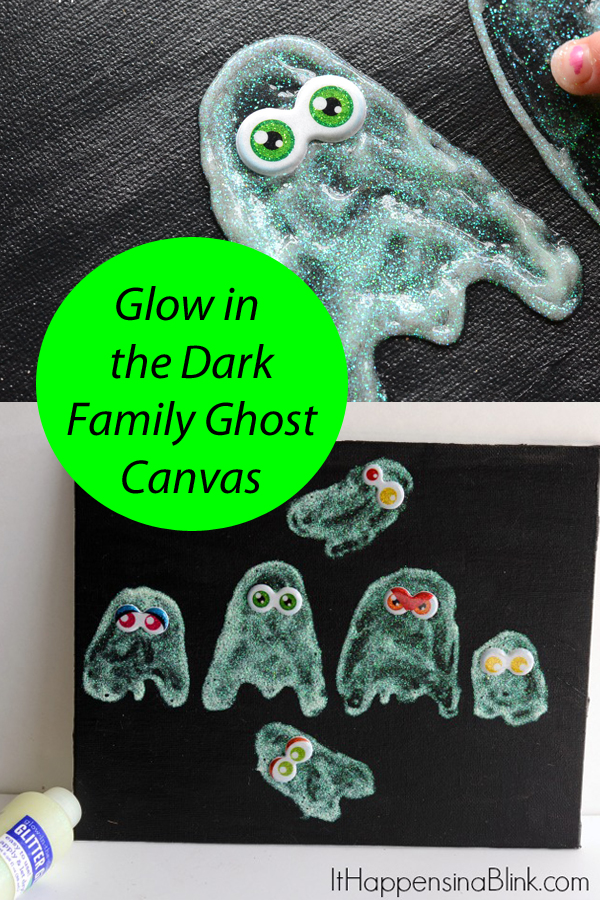 Glow in the Dark Family Ghost Canvas  | ItHappensinaBlink.com