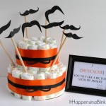 Mustache Diaper Cake  {with Baby Diapers}