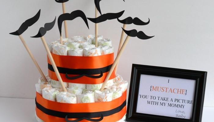 Mustache Diaper Cake #BabyDiapersSavings #CollectiveBias #shop