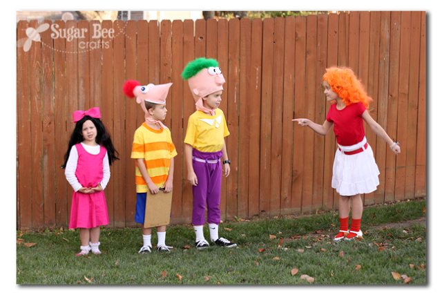 phineas and ferb family costume
