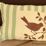 Easy Painted and Stenciled Pillow Cover