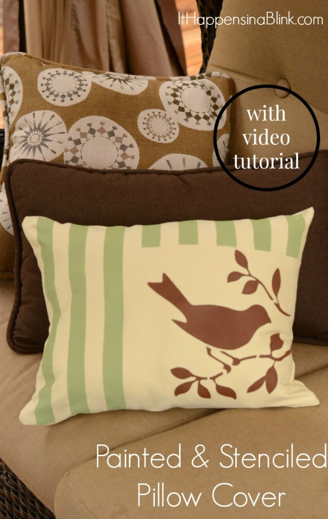 Painted and Stenciled Video Tutorual  |   ItHappensinaBlink.com