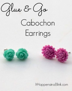 Flower Cabochon Earrings | ItHappensinaBlink.com