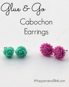 Flower Cabochon Earrings | ItHappensinaBlink.com
