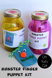 Monster Finger Puppet Kit | ItHappensinaBlink.com