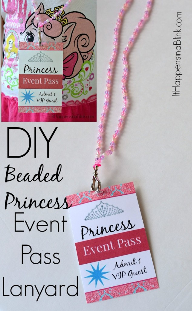 DIY Beaded Princess Event Pass Lanyard #DisneyBeauties #shop #CollectiveBias