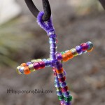 Pony Bead Cross Craft and FREE Coloring Sheet Downloads