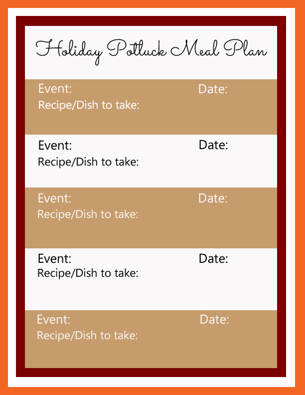 Holiday Potluck Meal Plan  #TasteTheSeason #CollectiveBias #shop