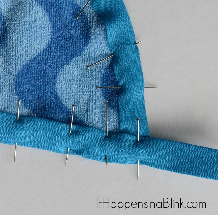 Infant Towels to Toddler Bibs | ItHappensinaBlink.com | Repurpose and sew infant towels into toddler bibs