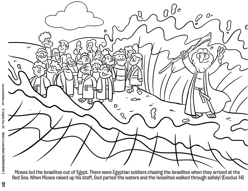 moses red sea coloring pages - photo#5