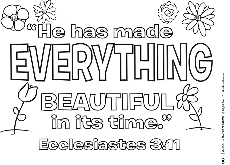 Ecclesiastes 3:11 Coloring Page Free Download