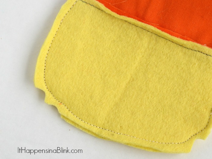 Large Felt Candy Corn from ItHappensinaBlink.com