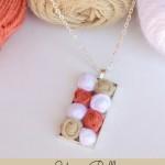 Yarn Ball Pendant Necklace