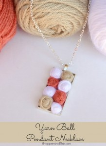 Yarn Ball Pendant Necklace | ItHappensinaBlink.com