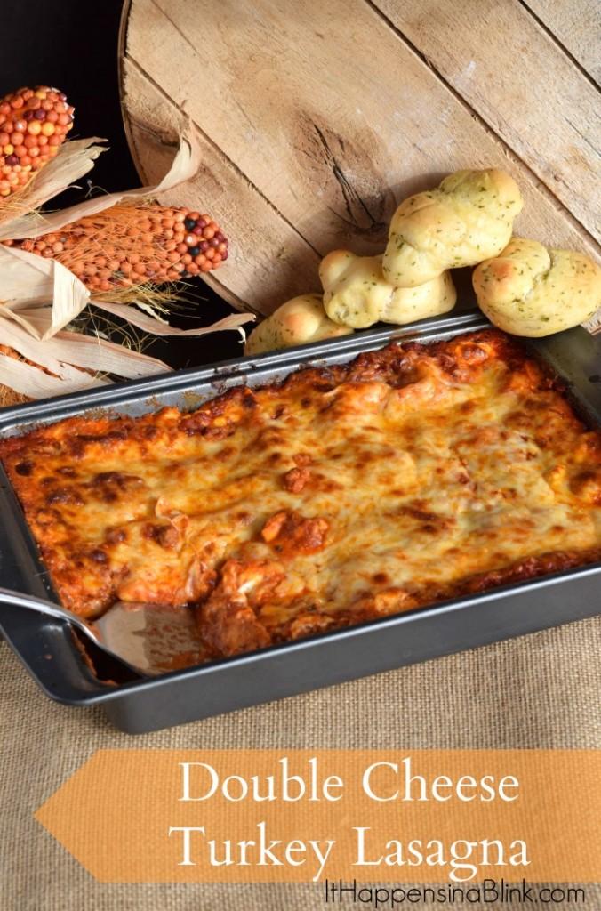 Double Cheese Turkey Lasagna #TasteTheSeason #ad #cbias