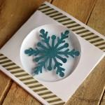 Floating Snowflake Christmas Card